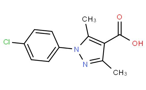 1-(4-氯苯基)-3,5-二甲基-1H-吡唑-4-羧酸