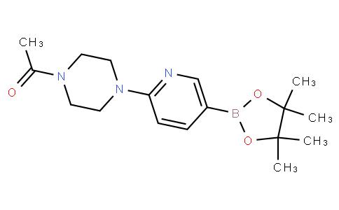 1-(4-(5-(4,4,5,5-tetramethyl-1,3,2-dioxaborolan-2-yl)pyridin-2-yl)piperazin-1-yl)ethanone