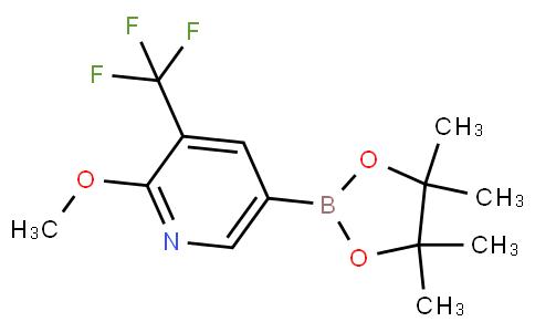 2-methoxy-5-(4,4,5,5-tetramethyl-1,3,2-dioxaborolan-2-yl)-3-(trifluoromethyl)pyridine