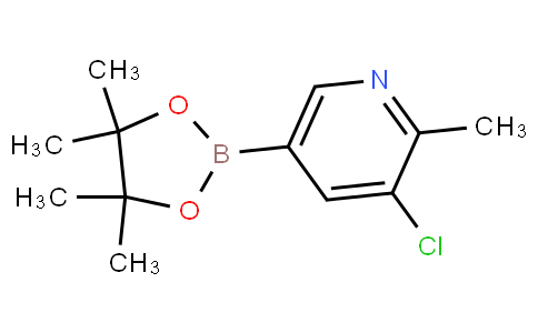 3-chloro-2-methyl-5-(4,4,5,5-tetramethyl-1,3,2-dioxaborolan-2-yl)pyridine