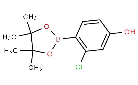 3-chloro-4-(4,4,5,5-tetramethyl-1,3,2-dioxaborolan-2-yl)phenol