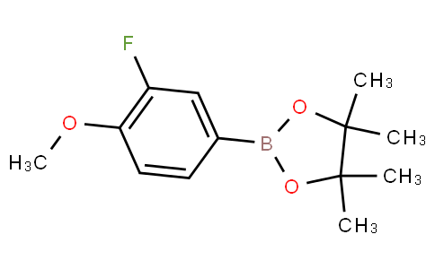 2-(3-fluoro-4-methoxyphenyl)-4,4,5,5-tetramethyl-1,3,2-dioxaborolane