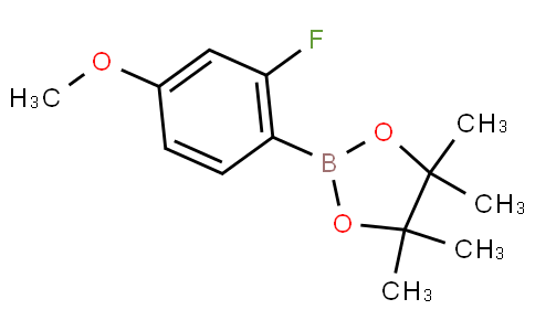 2-(2-fluoro-4-methoxyphenyl)-4,4,5,5-tetramethyl-1,3,2-dioxaborolane