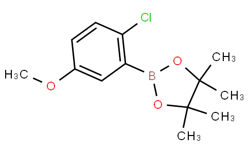 2-氯-5-甲氧基苯硼酸频呢醇酯