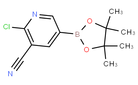 2-chloro-5-(4,4,5,5-tetramethyl-1,3,2-dioxaborolan-2-yl)nicotinonitrile