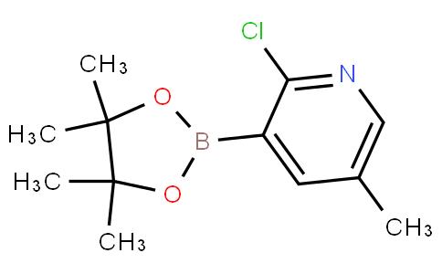 2-chloro-5-methyl-3-(4,4,5,5-tetramethyl-1,3,2-dioxaborolan-2-yl)pyridine