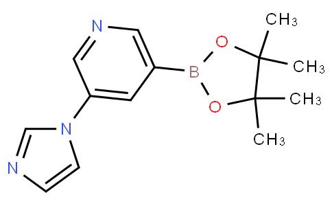 3-(1H-imidazol-1-yl)-5-(4,4,5,5-tetramethyl-1,3,2-dioxaborolan-2-yl)pyridine