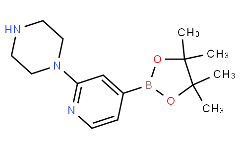 1-(4-(4,4,5,5-tetramethyl-1,3,2-dioxaborolan-2-yl)pyridin-2-yl)piperazine
