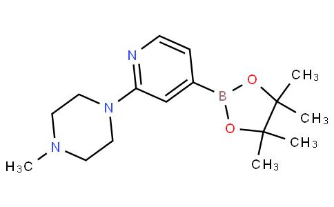 1-甲基-4-[5-(4,4,5,5-四甲基-1,3,2-二氧硼烷-2-YL)吡啶-2-YL]哌嗪