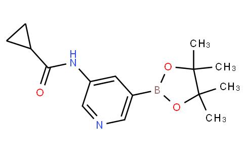N-(5-(4,4,5,5-tetramethyl-1,3,2-dioxaborolan-2-yl)pyridin-3-yl)cyclopropanecarboxamide