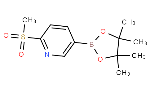 2-(methylsulfonyl)-5-(4,4,5,5-tetramethyl-1,3,2-dioxaborolan-2-yl)pyridine