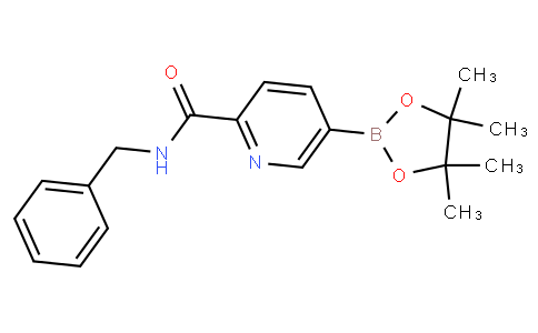 N-苄基-5-(4,4,5,5-四甲基-1,3,2-二氧杂环戊硼烷-2-基)吡啶酰胺