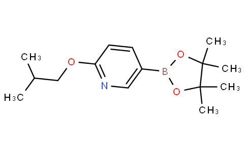 2-isobutoxy-5-(4,4,5,5-tetramethyl-1,3,2-dioxaborolan-2-yl)pyridine