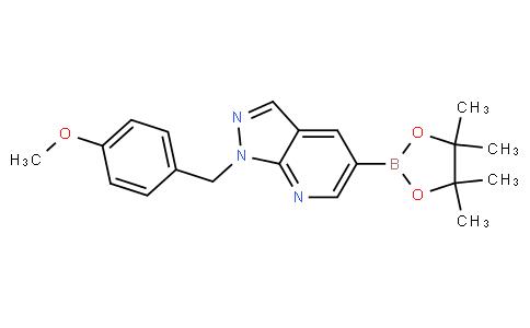 1-(4-methoxybenzyl)-5-(4,4,5,5-tetramethyl-1,3,2-dioxaborolan-2-yl)-1H-pyrazolo[3,4-b]pyridine