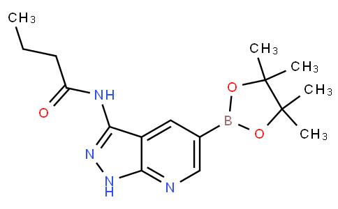 N-(5-(4,4,5,5-tetramethyl-1,3,2-dioxaborolan-2-yl)-1H-pyrazolo[3,4-b]pyridin-3-yl)butyramide