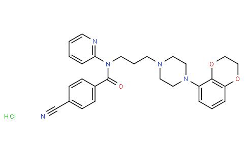 4-氰基-N-(2R-(4-(2,3-二氢苯基(1,4)-二氧-5-)-哌嗪-1-)-丙基)-N-吡啶-2-苯甲酰胺 盐酸盐