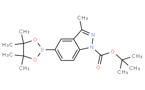 tert-butyl 3-methyl-5-(4,4,5,5-tetramethyl-1,3,2-dioxaborolan-2-yl)-1H-indazole-1-carboxylate