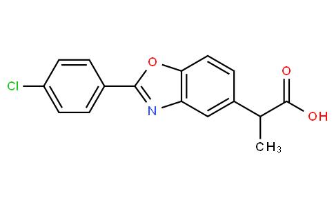 2-(2-(4-chlorophenyl)benzo[d]oxazol-5-yl)propanoic acid