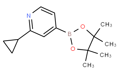 2-cyclopropyl-4-(4,4,5,5-tetramethyl-1,3,2-dioxaborolan-2-yl)pyridine