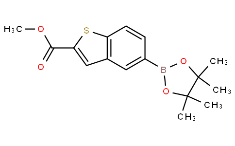 methyl 5-(4,4,5,5-tetramethyl-1,3,2-dioxaborolan-2-yl)benzo[b]thiophene-2-carboxylate