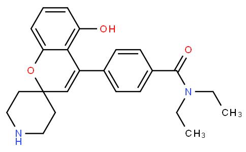 N,N-二乙基-4-(5-羟基螺[2H-1-苯并吡喃-2,4'-哌啶]-4-基)苯甲酰胺盐酸盐