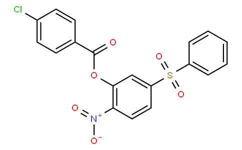 2-nitro-5-(phenylsulfonyl)phenyl 4-chlorobenzoate