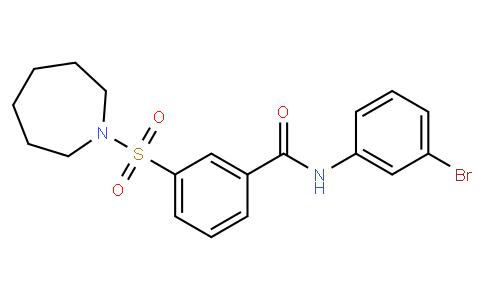 N-(3-溴苯基)-3-[(六氢-1H-氮杂卓-1-基)磺酰基]-苯甲酰胺
