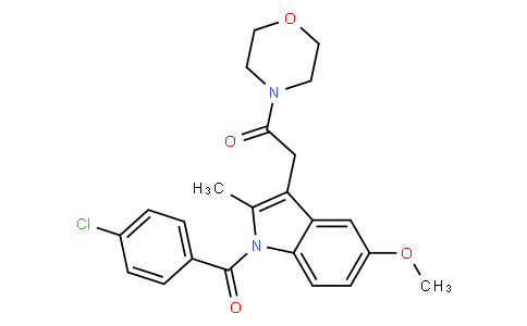 2-(1-(4-chlorobenzoyl)-5-methoxy-2-methyl-1H-indol-3-yl)-1-morpholinoethanone