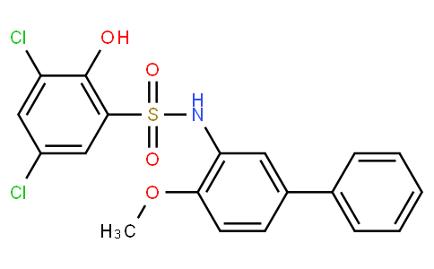 3,5-二氯-2-羟基-N-(4-甲氧基[1,1'-联苯]-3-基)苯磺酰胺