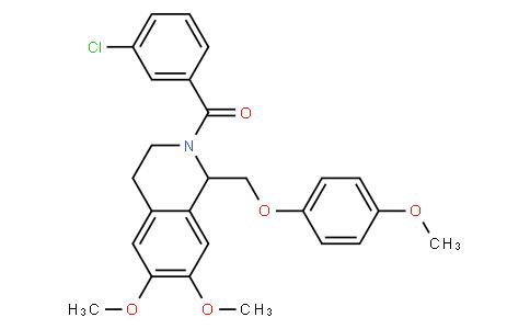(3-chlorophenyl)(6,7-dimethoxy-1-((4-methoxyphenoxy)methyl)-3,4-dihydroisoquinolin-2(1H)-yl)methanone