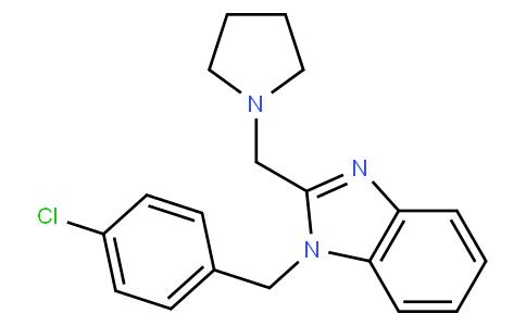 1-[(4-氯苯基)甲基]-2-(吡咯烷-1-基甲基)苯并咪唑盐酸盐