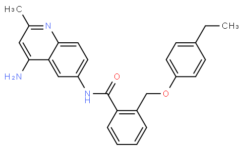 N-(4-amino-2-methylquinolin-6-yl)-2-((4-ethylphenoxy)methyl)benzamide
