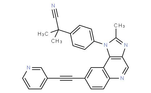 2-甲基-2-[4-[2-甲基-8-[(吡啶-3-基)乙炔基]咪唑并[4,5-C]喹啉-1-基]苯基]丙腈