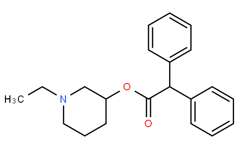 1-ethylpiperidin-3-yl 2,2-diphenylacetate