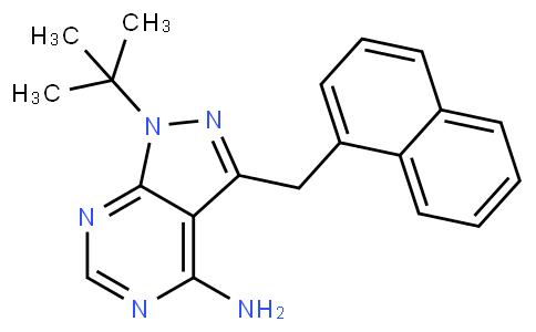 1-(tert-butyl)-3-(naphthalen-1-ylmethyl)-1H-pyrazolo[3,4-d]pyrimidin-4-amine
