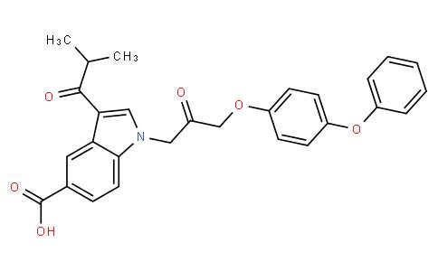 3-(2-甲基-1-氧代丙基)-1-[2-氧代-3-(4-苯氧基苯氧基)丙基]-1H-吲哚-5-羧酸