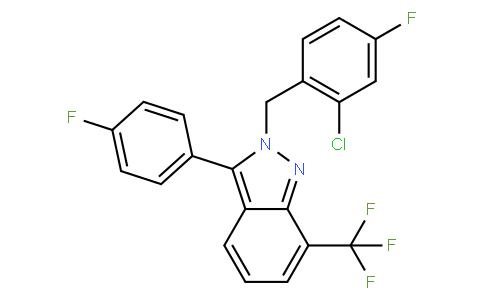 2-(2-chloro-4-fluorobenzyl)-3-(4-fluorophenyl)-7-(trifluoromethyl)-2H-indazole