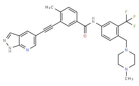 3-((1H-pyrazolo[3,4-b]pyridin-5-yl)ethynyl)-4-methyl-N-(4-((4-methylpiperazin-1-yl)methyl)-3-(trifluoromethyl)phenyl)benzamide