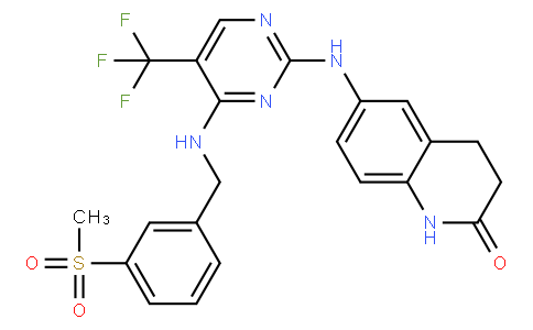 6-((4-((3-(methylsulfonyl)benzyl)amino)-5-(trifluoromethyl)pyrimidin-2-yl)amino)-3,4-dihydroquinolin-2(1H)-one