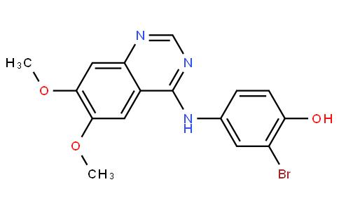 2-溴-4-(6,7-二甲氧基喹唑啉-4-基氨基)苯酚