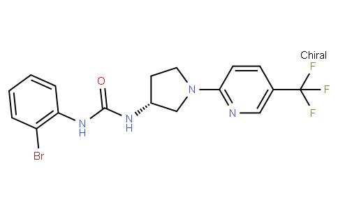 (R)-1-(2-bromophenyl)-3-(1-(5-(trifluoromethyl)pyridin-2-yl)pyrrolidin-3-yl)urea