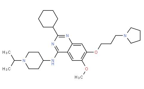 2-cyclohexyl-N-(1-isopropylpiperidin-4-yl)-6-methoxy-7-(3-(pyrrolidin-1-yl)propoxy)quinazolin-4-amine