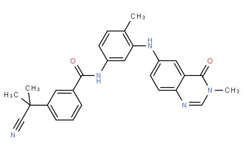 3-(2-Cyanopropan-2-yl)-N-(4-methyl-3-(3-methyl-4-oxo-3,4-dihydroquinazolin-6-ylamino)phenyl)benzamide