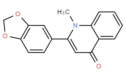 2-(苯并[d][1,3]二氧杂环戊烯-5-基)-1-甲基喹啉-4(1H) -酮