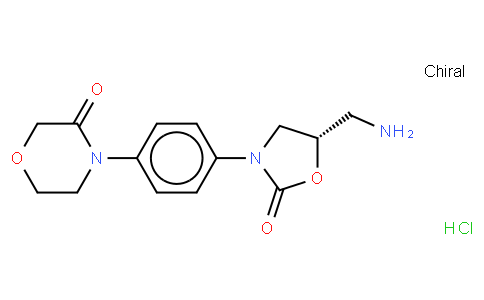 S)-4-(4-(5-(Aminomethyl)-2-oxooxazolidin-3-yl)phenyl)morpholin-3-one.HCl