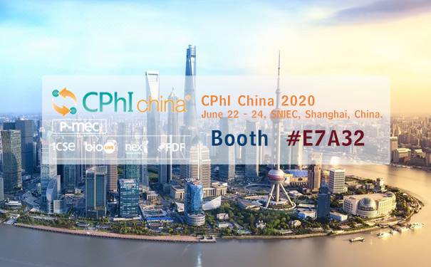2020 CPhI China in Shanghai ,on June 22 - 24.Booth #E7A32