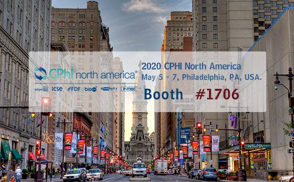 2020 CPHI North America & InformEx in Philadelphia, PA, USA, on May 5 - 7, Booth # 1706