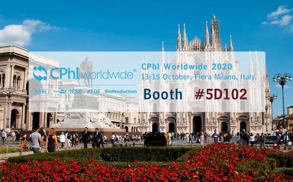 CPhI Wordwide 2020 in Milan, Italy,on 13 - 15 October, Booth #5D102