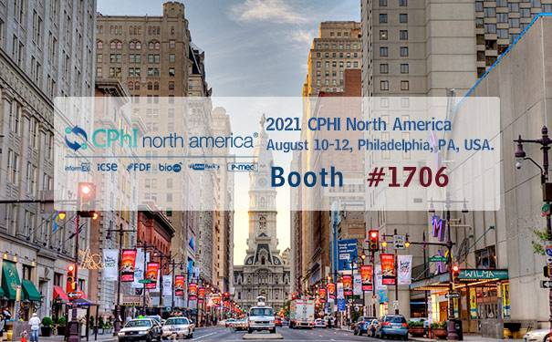 2021 CPHI North America & InformEx in Philadelphia, PA, USA, on April 20 -22, Booth # 1706