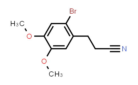 2-Bromo-4,5-dimethoxy-benzenepropanenitrile